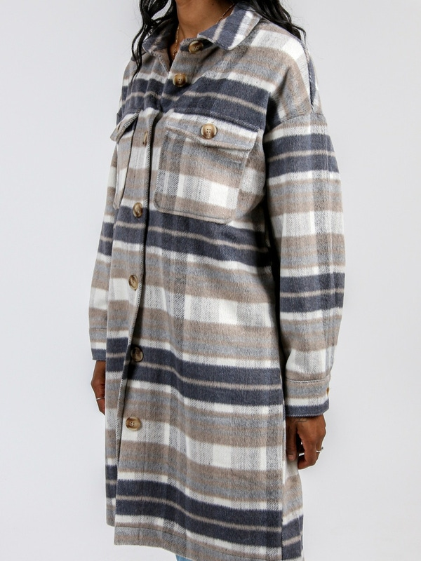 Noisy May Flannel Plaid Shacket